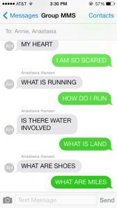 Actual conversation