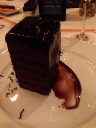 Course 3: Chocolate Tower, belgian chocolate and chocolate brownie