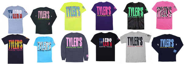 Tyler's Texas Tees, $19-45