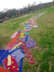 Chain Art along Brays Bayou