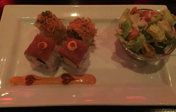 KING CRAB SALAD, RED HEART ROLL, CRUNCHY YAMI ROLL