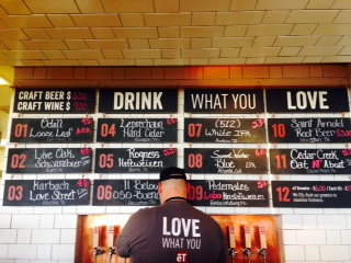 Craft Beer selection at eT Burgers
