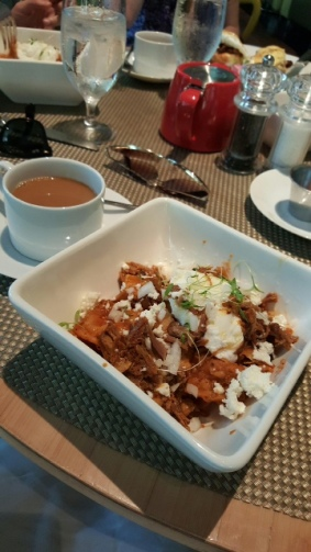 Chilaquiles with pork