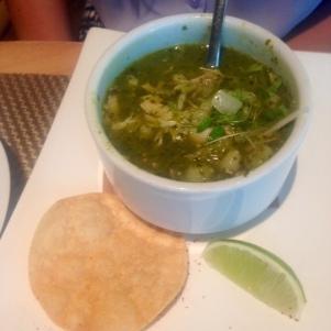 Chicken Pozole --plot twist! It's a soup!