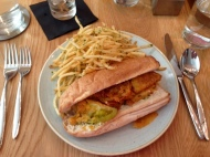 Fried Green Tomato Po-Boy (no sprouts)