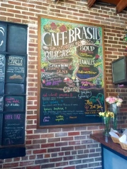 Cafe Brasil brunch menu