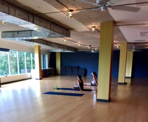 Sweating it out at BIG PowerYoga