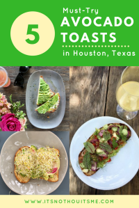 BEST avocado toast in houston