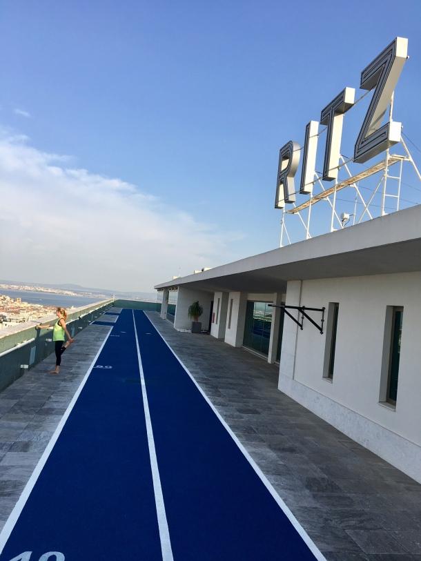 four seasons hotel ritz Lisbon rooftop running track