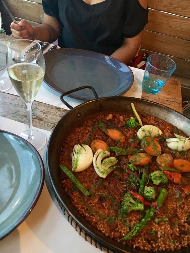 vegetarian paella barcelona barraca