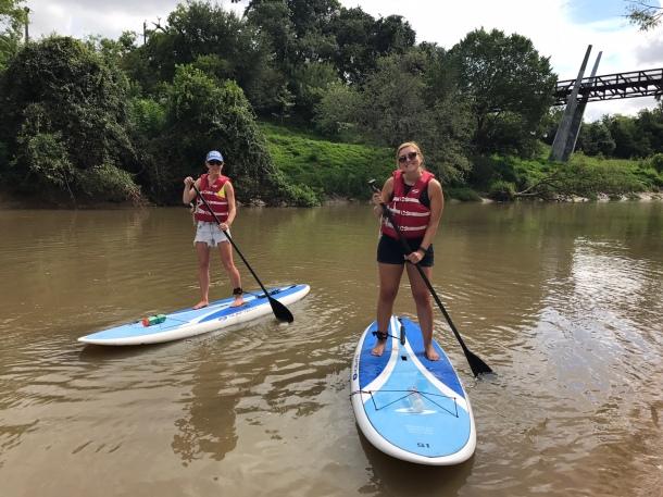 paddle boarding Houston SUP buffalo bayou