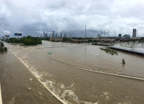 Houston Flood Yale Street I-10 Hurricane Harvey
