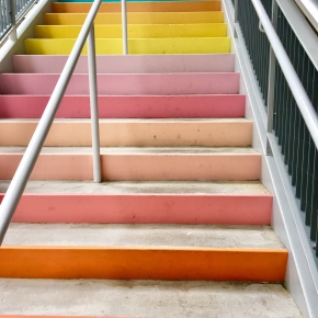 #SugarAndClothColorWall RETURNS to Houston (with Rainbow Stairs too)!