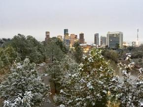 Houston, It's Snowing!